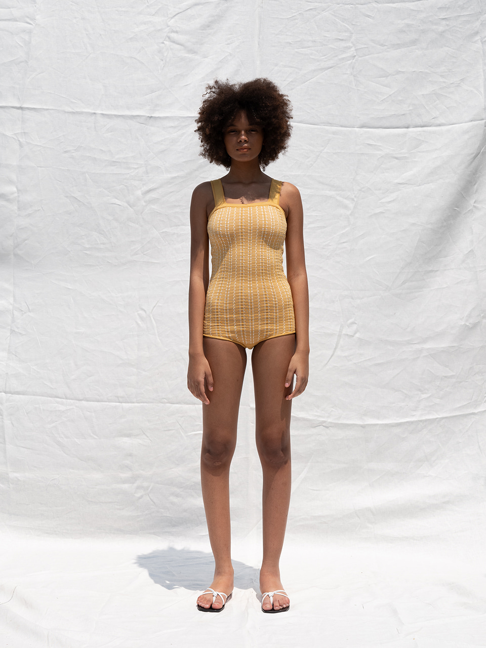 Jaquard swimsuit_yellow